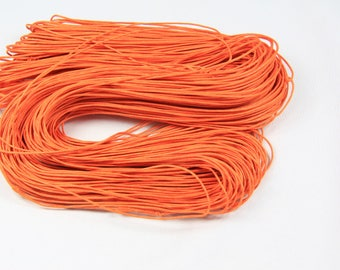 Skein of approx. 80 M 1 mm waxed cotton thread Orange cord