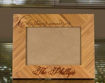 custom picture frame engraved photo frame wooden photo frame christmas memories photo frame - Engraved Frame