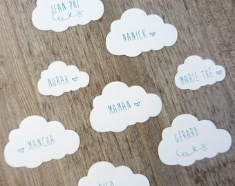 20 tags personalized and printed cloud