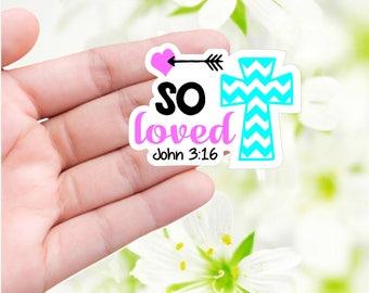 So Loved sticker John 3:16