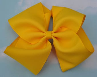 Yellow Large JoJo Style Hair Bow