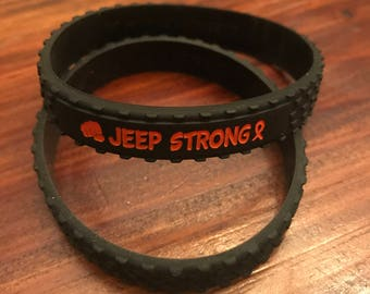 """Jeepers for St. Jude """"Jeep Strong"""" Wrist Band"""