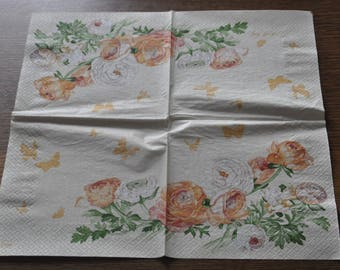 Buttercup flower theme paper towel