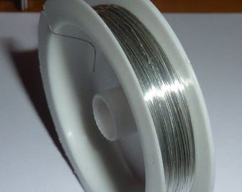 Spool of 20 m of 0.3 mm silver plated copper wire