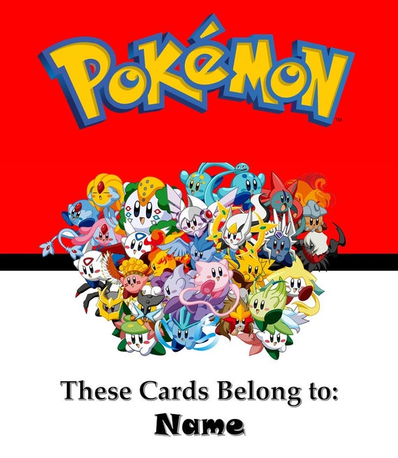 Pokemon Card Binder Covers