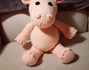 Crochet Stuffed Hippo