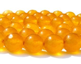 8 topazes à facette de 8 mm perles pierre jaune orangé.