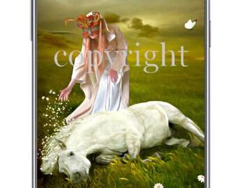 La guérisseuse fond d'écran pour ipod ou ordinateur création unique sur le thème féerique.