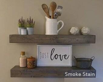Rustic Shelves, Floating Shelves, Wood Shelves, Floating Shelf, Wood Floating Shelves, Rustic Shelves, Farmhouse Décor, Wooden Shelf