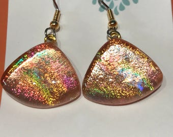 Copper Foiled Earrings