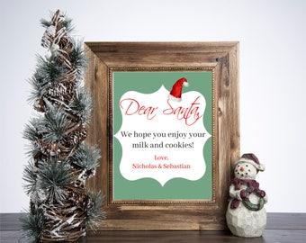 Milk & Cookies for Santa 8x10 Christmas Print
