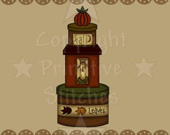 Graphics-Fall Leaves Stacked Boxes-INSTANT DOWNLOAD