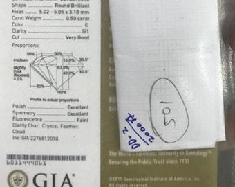 0.50ct E SI1 GIA Certified Diamond