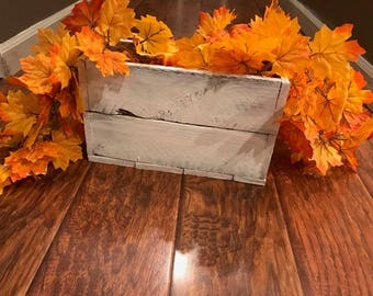 Rustic White Wash Pallet Wood Box