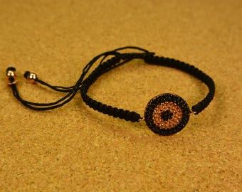 Handmade silver women bracelet cycle of life