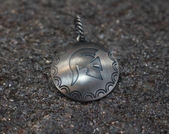 Spartan helmet Silver 925 pendant