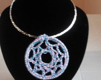Necklace for Women/Crocheted Necklace/Crochet pendant necklace/Necklace for Mom/Necklace with Pendant/Gift for Mom/Gift for Girlfriend