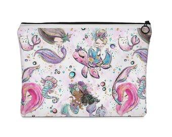 Mermaid Cosmetic Bag, Cosmetic Bag, Makeup Bag, Mermaid Bag, Mermaid, Makeup Bag, Travel Bag, Mermaid Makeup Bag, Toiletry Bag, Mermaid Gift