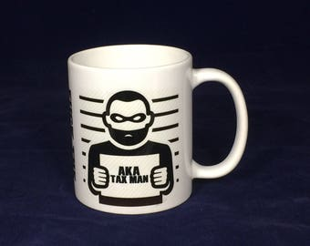 F%ck the tax man  Funny rude 11oz mug cup  - Lizard print