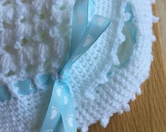 White Pram Cover/ baby gift/Baby Blanket