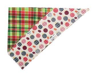 Dog Bandana | Double-sided | Xmas Ornaments  | Free Shipping to Canada