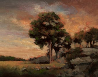 Tuesday Morning Original 5x7 Oil Painting by M Francis McCarthy