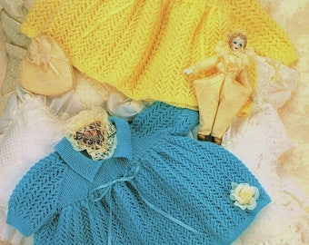 Pretty Baby Dresses, Knitting Pattern. Instant Download.