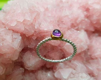 Ring with hard stones