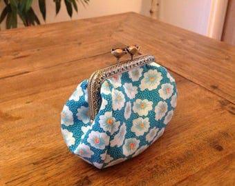Retro flowers purse
