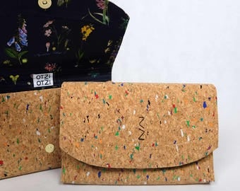 Colorful Cork - Herbarium lining women bag