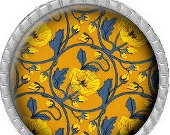 Cabochon pendant - Blue mustard (292)