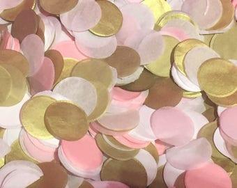 Gold, Pink, White Paper Confetti 66 grams