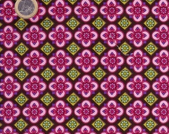 Pink/purple/brown/red geometric fabric