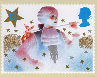 Christmas 1985, British Royal Mail postcards, Set of 5.