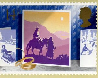 Christmas 1988, British Royal Mail postcards, Set of 5.