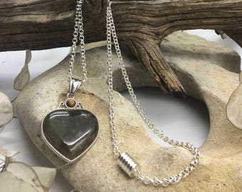 Love Tourmaline Heart Necklace