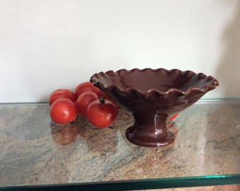 Chocolate Brown Compote Dish