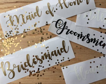 Personalized Bridal Party Decals