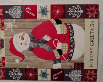 Holiday Seasons Greetings Cards-quantity Four