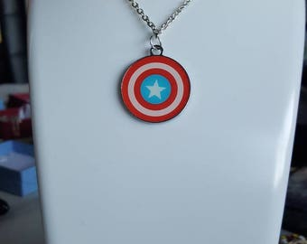 Marvel INSPIRED Captain America necklace/keyring
