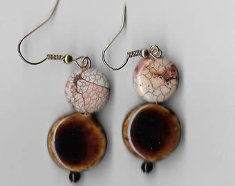 Brown/Beige Earrings