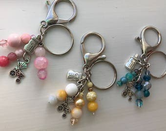 Keychains for Women, Babyshower Gift, Gift for New Mom, Expecting Mom Gift, Unique Baby Shower Gifts, Mother To Be Gift, Bag Charm, Keychain