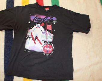 Vintage 1994 Coca-Cola Polar Bear Skiing Shirt