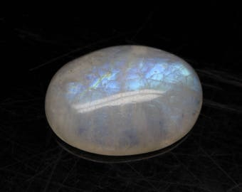 Natural Rainbow Moonstone Flash fire Size 22x7x16 MM Approx 1 PC Oval Cabochon Code- HR04