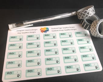 Vet Appointment Planner Stickers