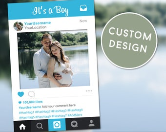 Gender Reveal Party, Baby Shower Boy, Gender Reveal Props, Baby Shower Decorations, Instagram Frame, Its a Boy, Team Boy, Photobooth Props