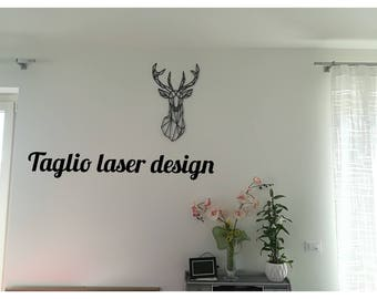 Wall decoration in wood: deer