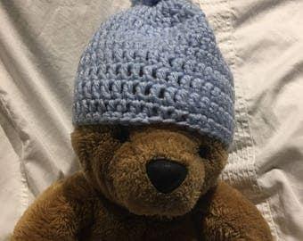 Baby-blue Crochet  hat