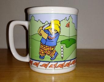 Vintage 1991 Paddington Bear Golf Coffee Mug/Tea Cup