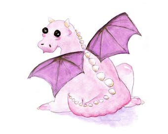 Dragon Baby Art Print